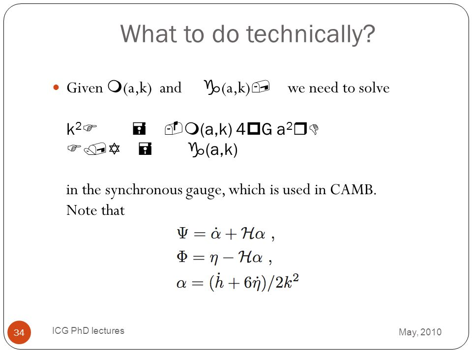 What to do technically