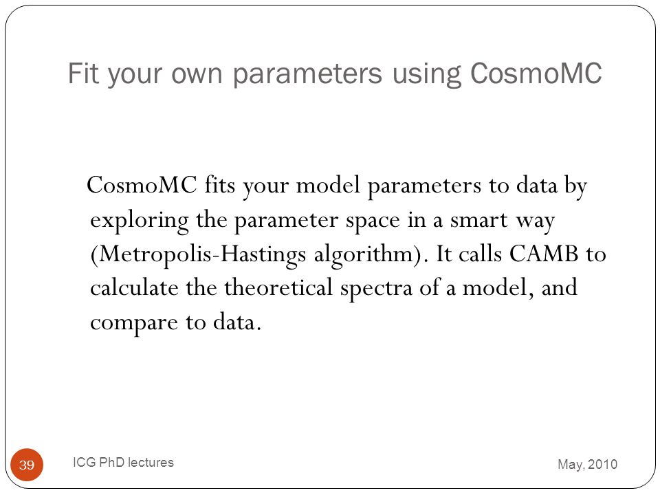 Fit your own parameters using CosmoMC