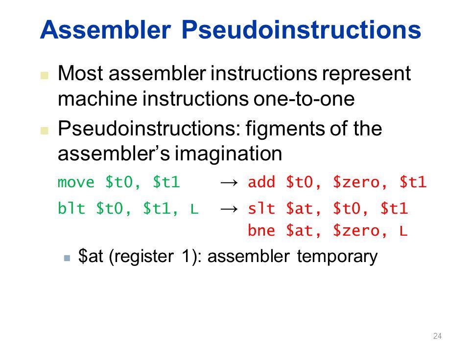 Assembler Pseudoinstructions
