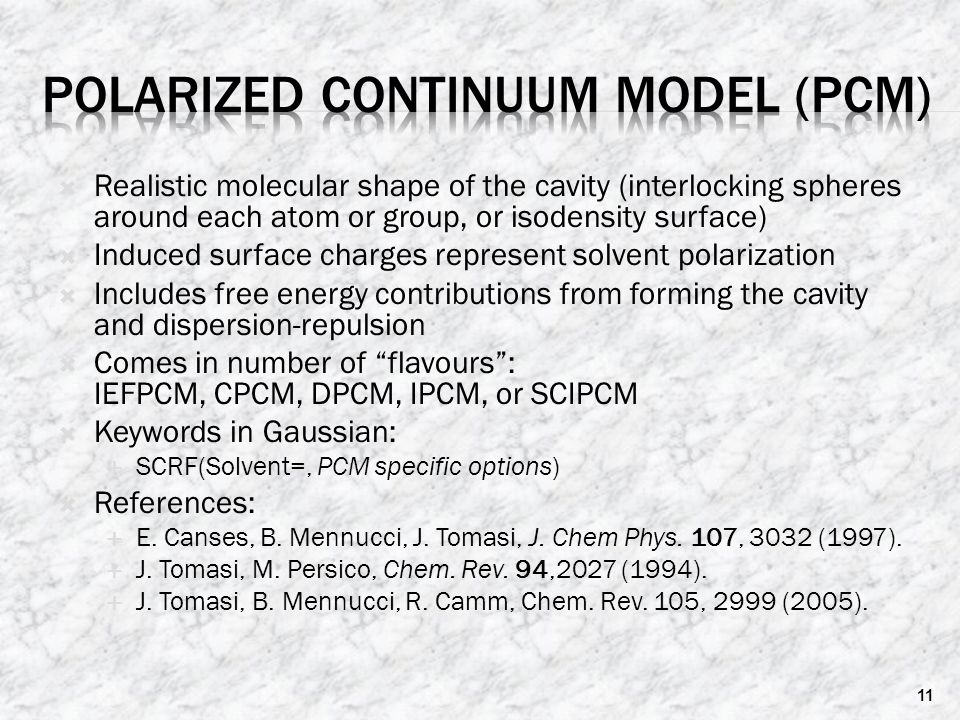 Polarized Continuum Model (PCM)