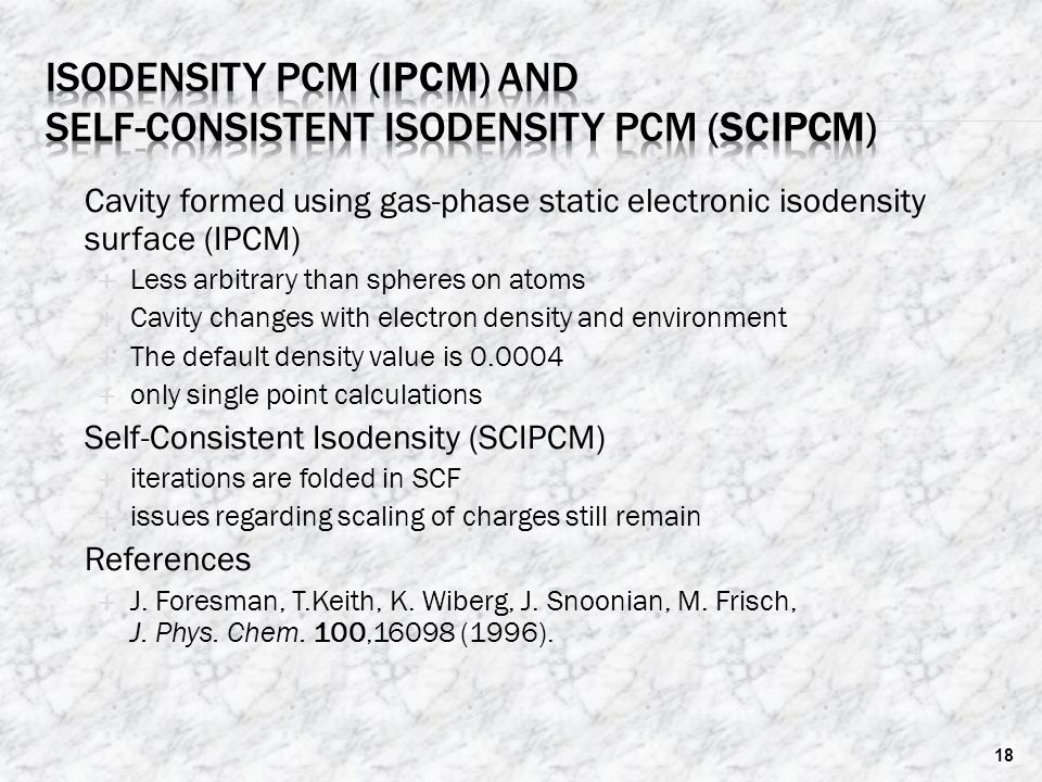 Isodensity PCM (IPCM) and Self-Consistent Isodensity PCM (SCIPCM)