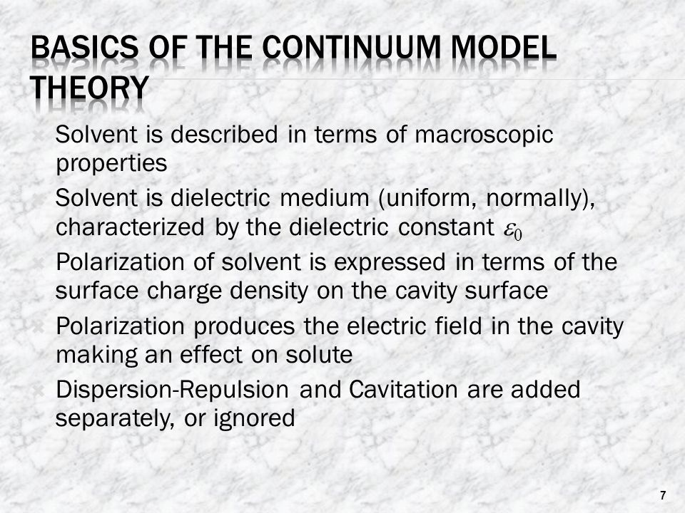 Basics of the Continuum Model Theory