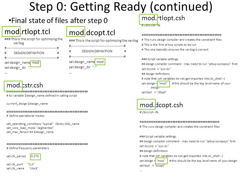 Step 0: Getting Ready (continued)
