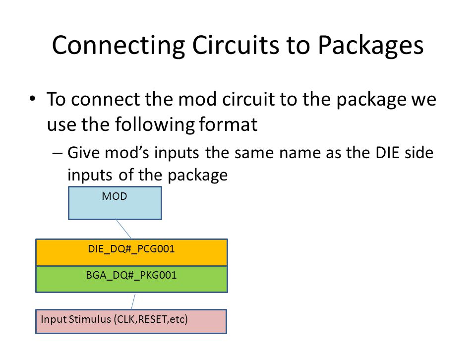 Connecting Circuits to Packages