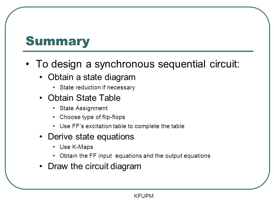 derive the state table and state diagram for the sequential coe 202 digital logic design sequential circuits part 3 ppt on derive the state table and