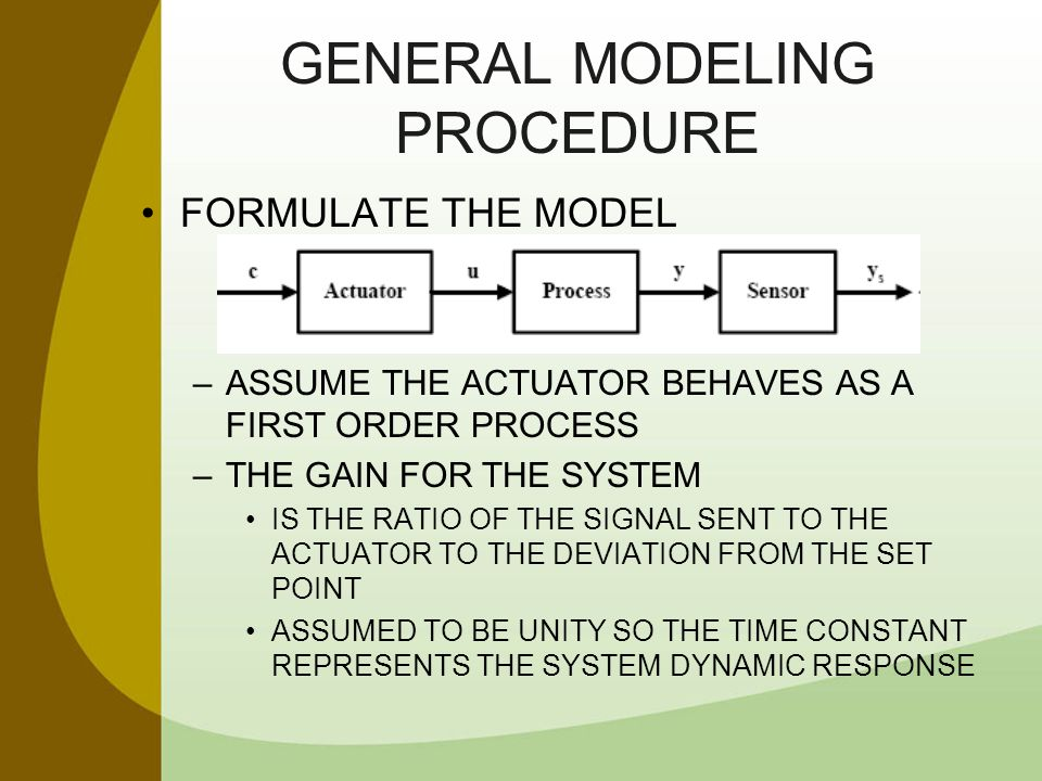 GENERAL MODELING PROCEDURE