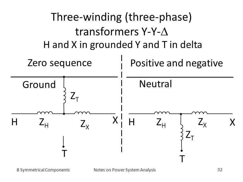 Three-winding (three-phase) transformers Y-Y-D