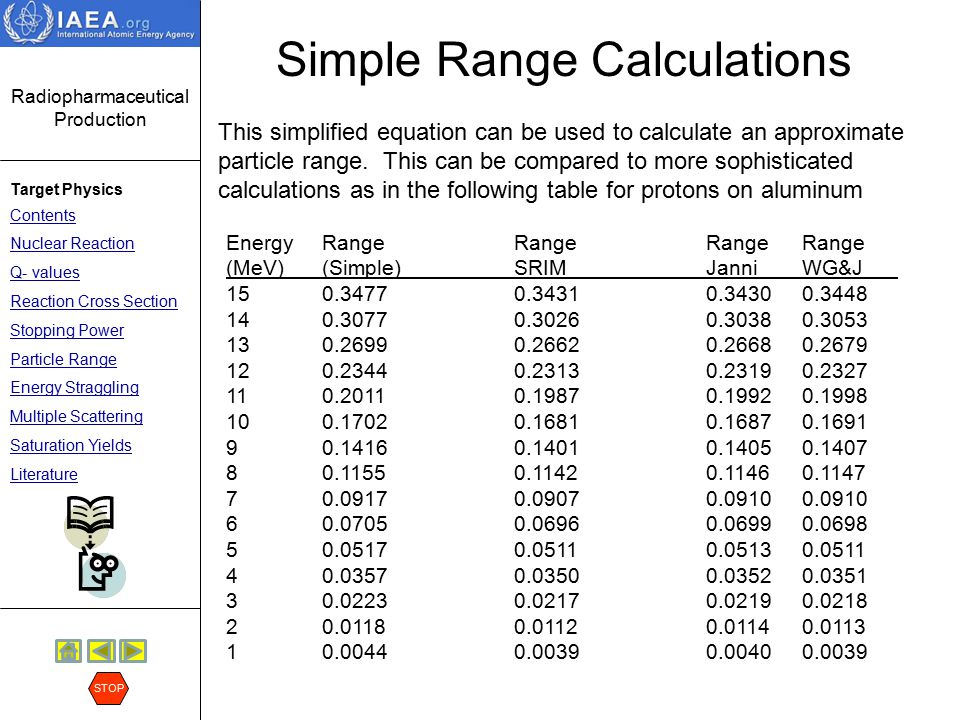 Simple Range Calculations