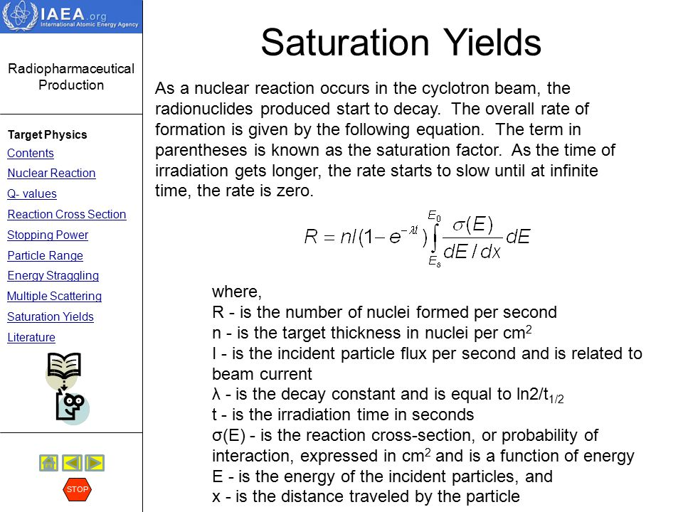Saturation Yields
