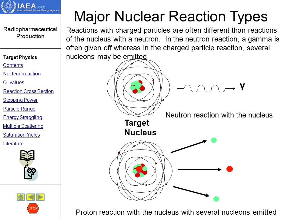 Major Nuclear Reaction Types