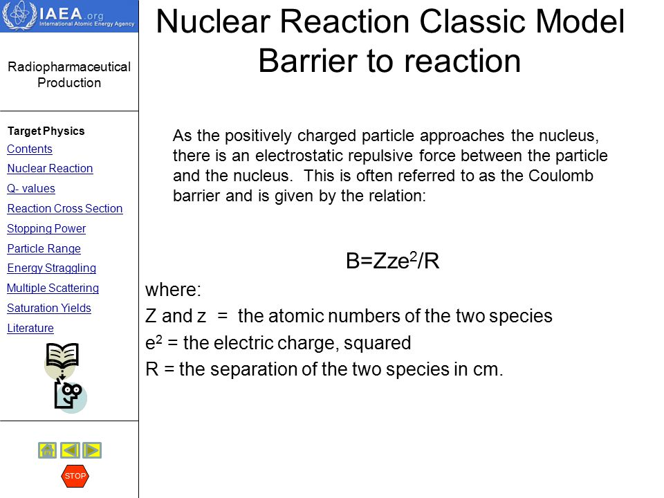 Nuclear Reaction Classic Model Barrier to reaction