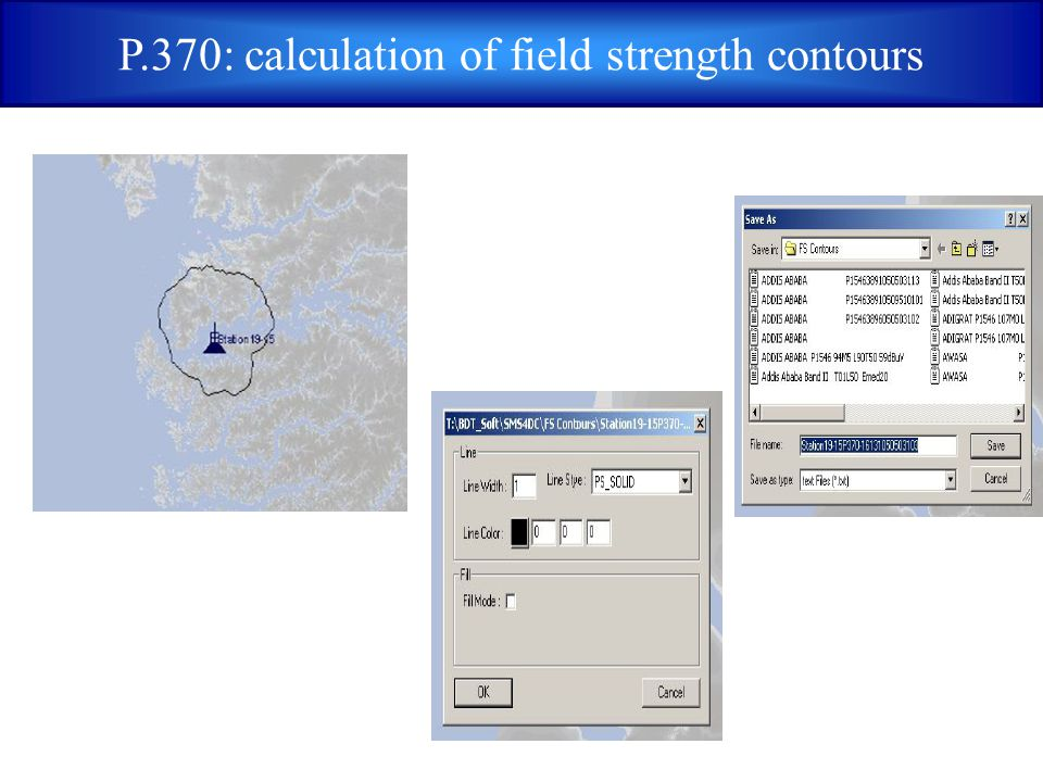 P.370: calculation of field strength contours