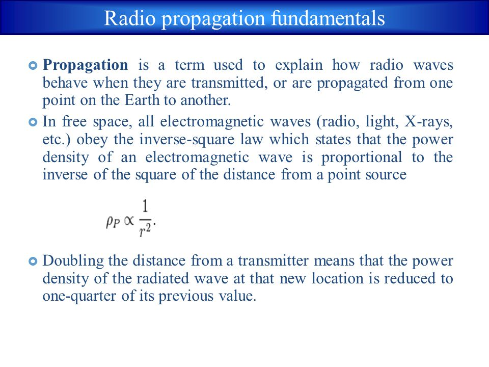 Radio propagation fundamentals