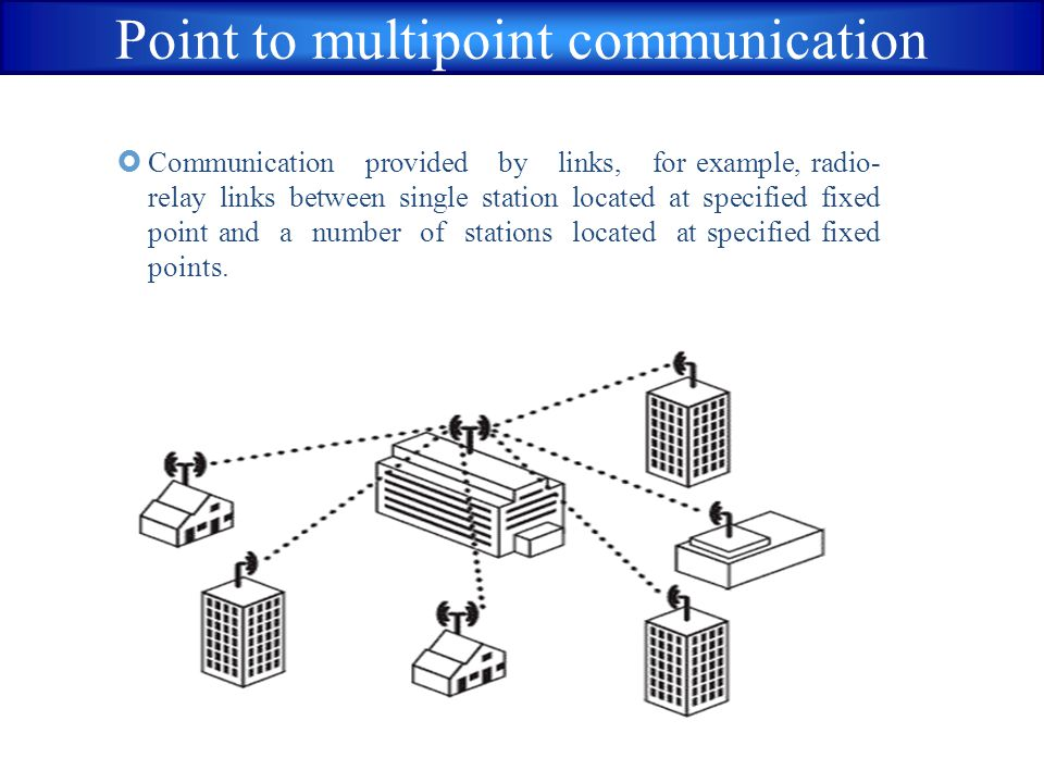 Point to multipoint communication