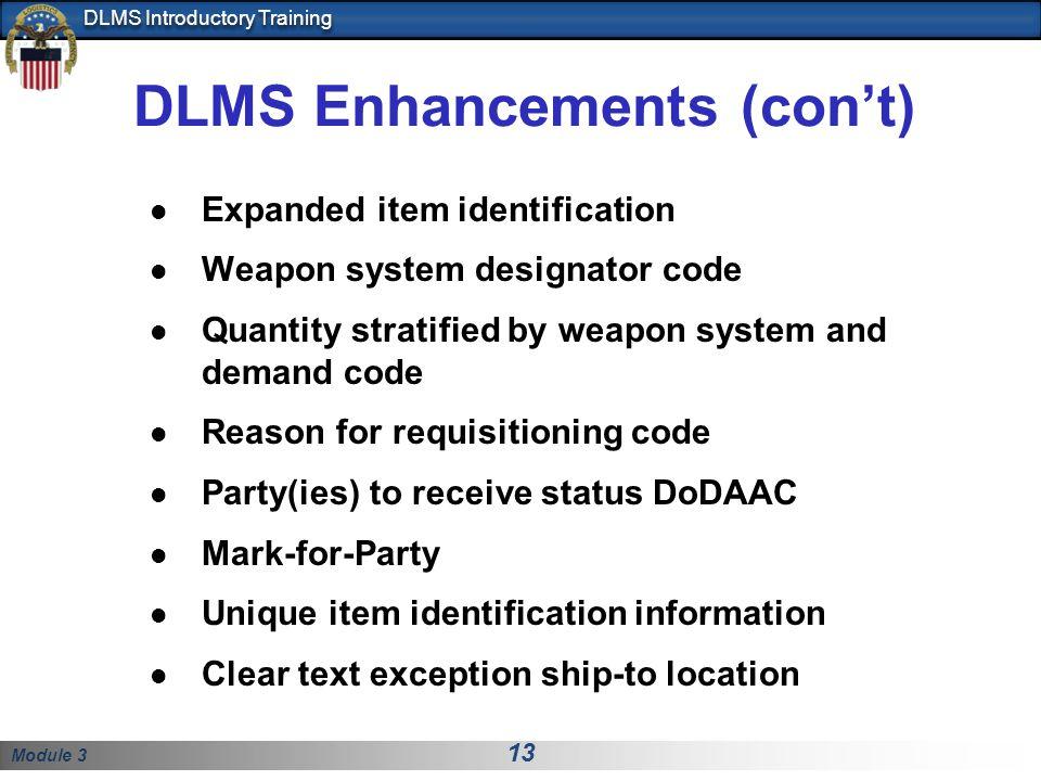 DLMS Enhancements (con't)