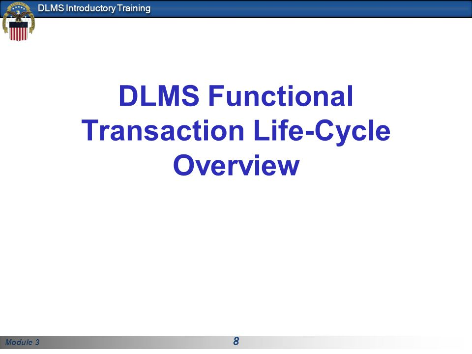 DLMS Functional Transaction Life-Cycle Overview