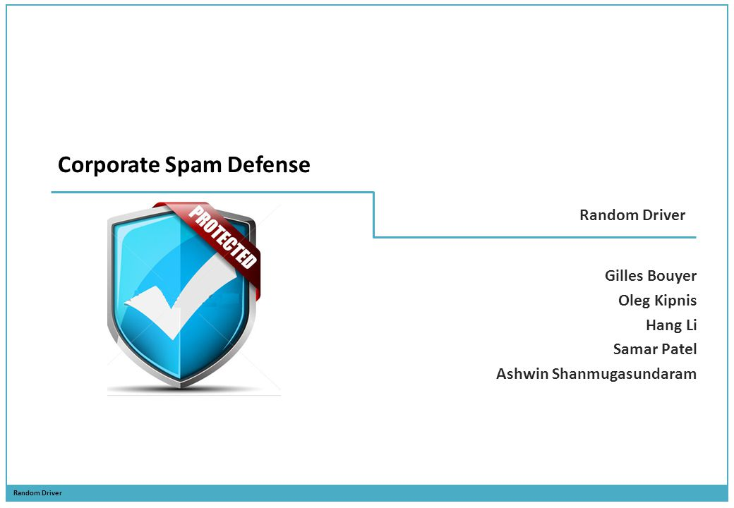 Corporate Spam Defense