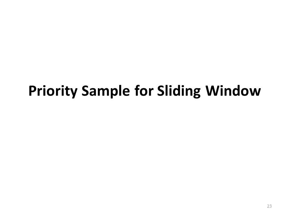 Priority Sample for Sliding Window