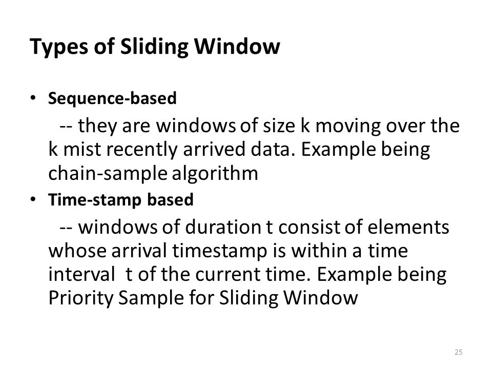 Types of Sliding Window
