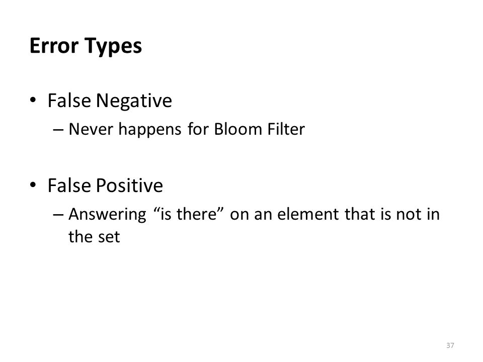 Error Types False Negative False Positive