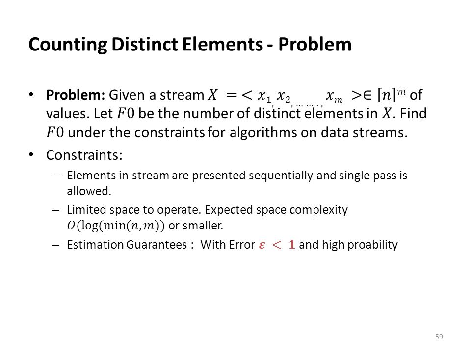 Counting Distinct Elements - Problem