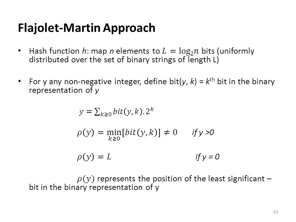Flajolet-Martin Approach
