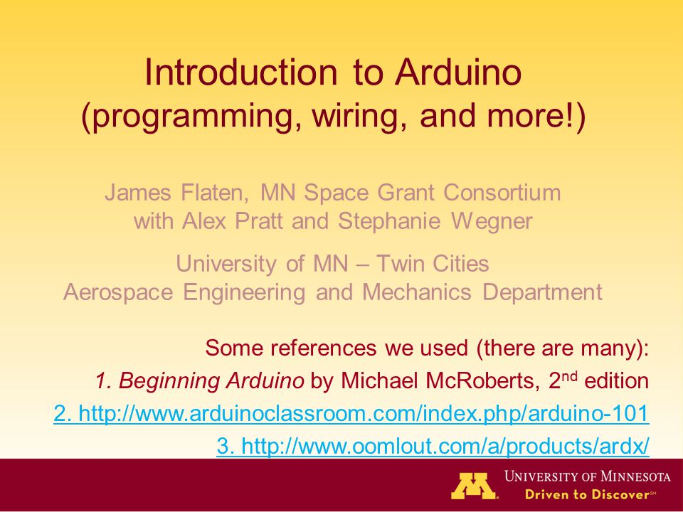 Introduction to Arduino (programming, wiring, and more!)