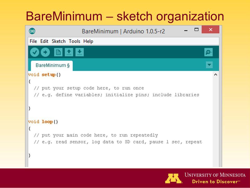 BareMinimum – sketch organization