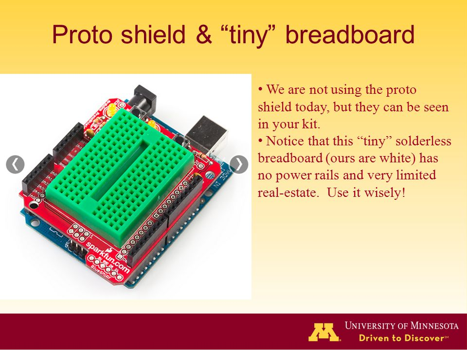 Proto shield & tiny breadboard