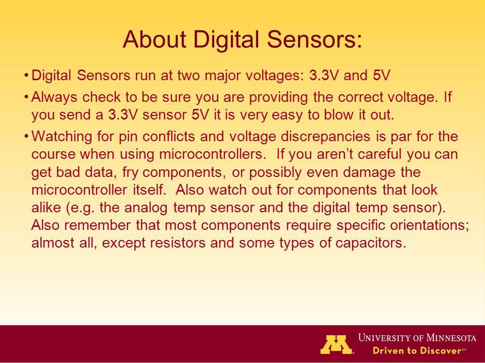 About Digital Sensors: