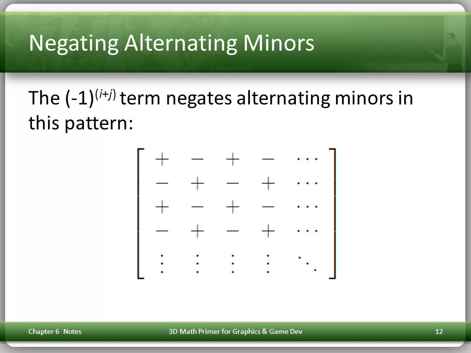Negating Alternating Minors