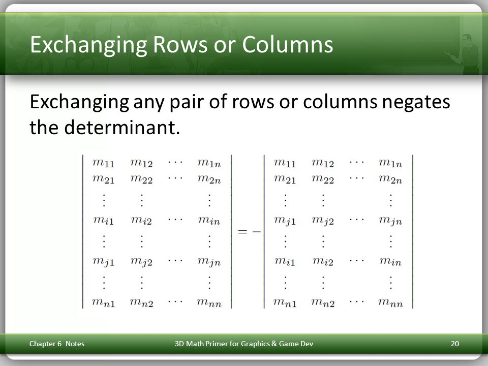 Exchanging Rows or Columns
