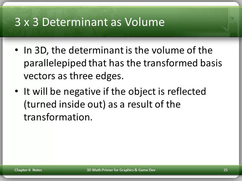 3 x 3 Determinant as Volume