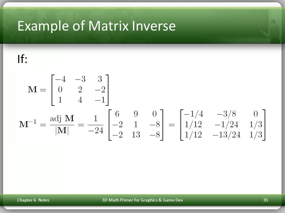 Example of Matrix Inverse