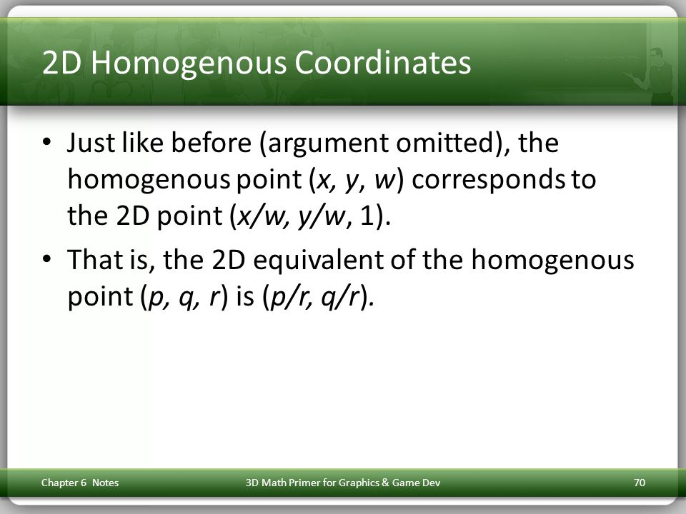 2D Homogenous Coordinates