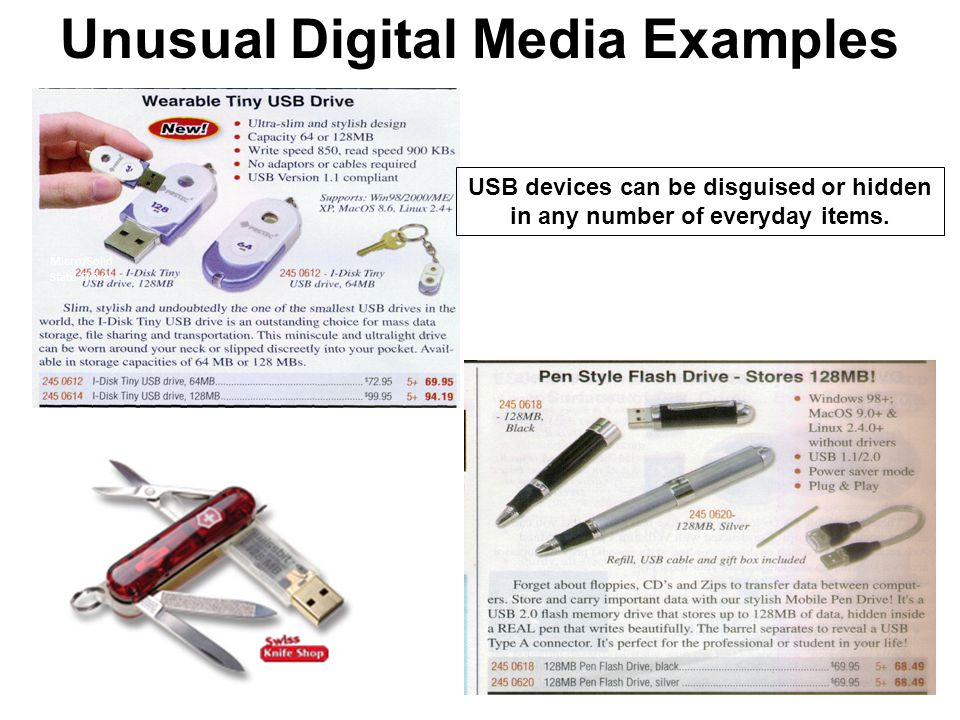 Unusual Digital Media Examples