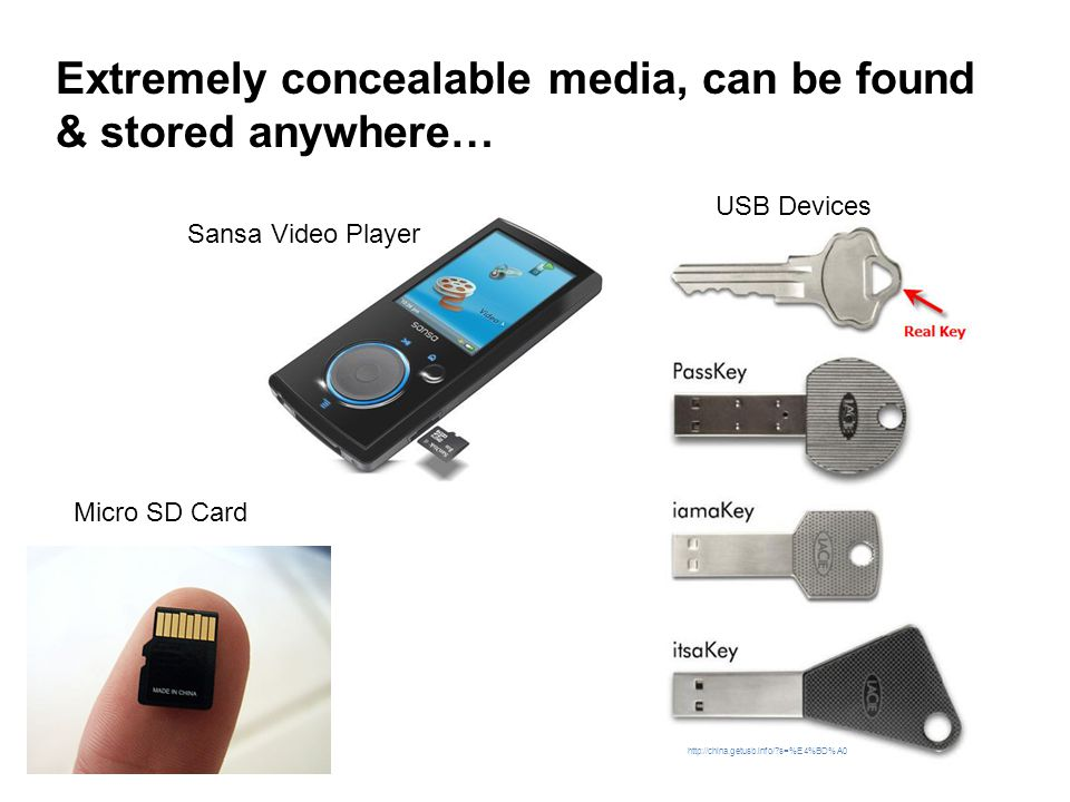 Extremely concealable media, can be found & stored anywhere…