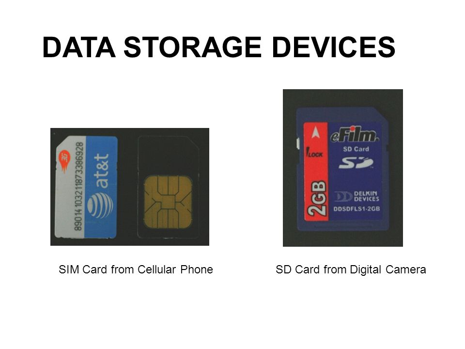 DATA STORAGE DEVICES SIM Card from Cellular Phone