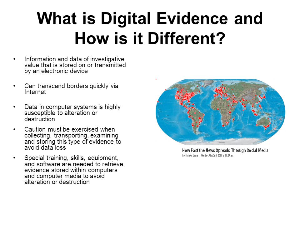 What is Digital Evidence and How is it Different