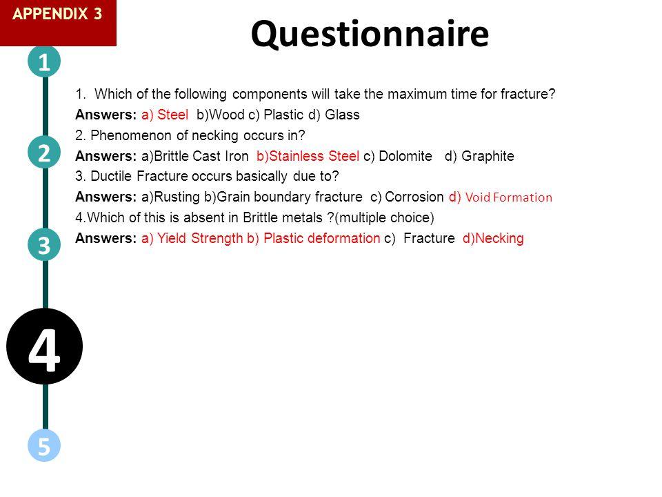 4 Questionnaire 1 2 3 5 1818 APPENDIX 3