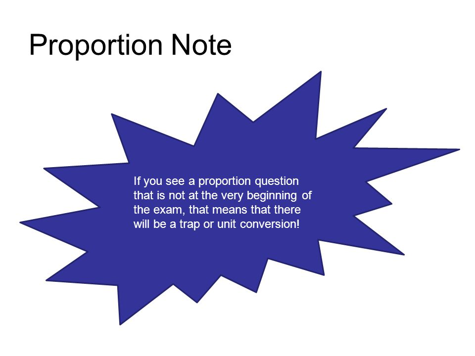 Proportion Note