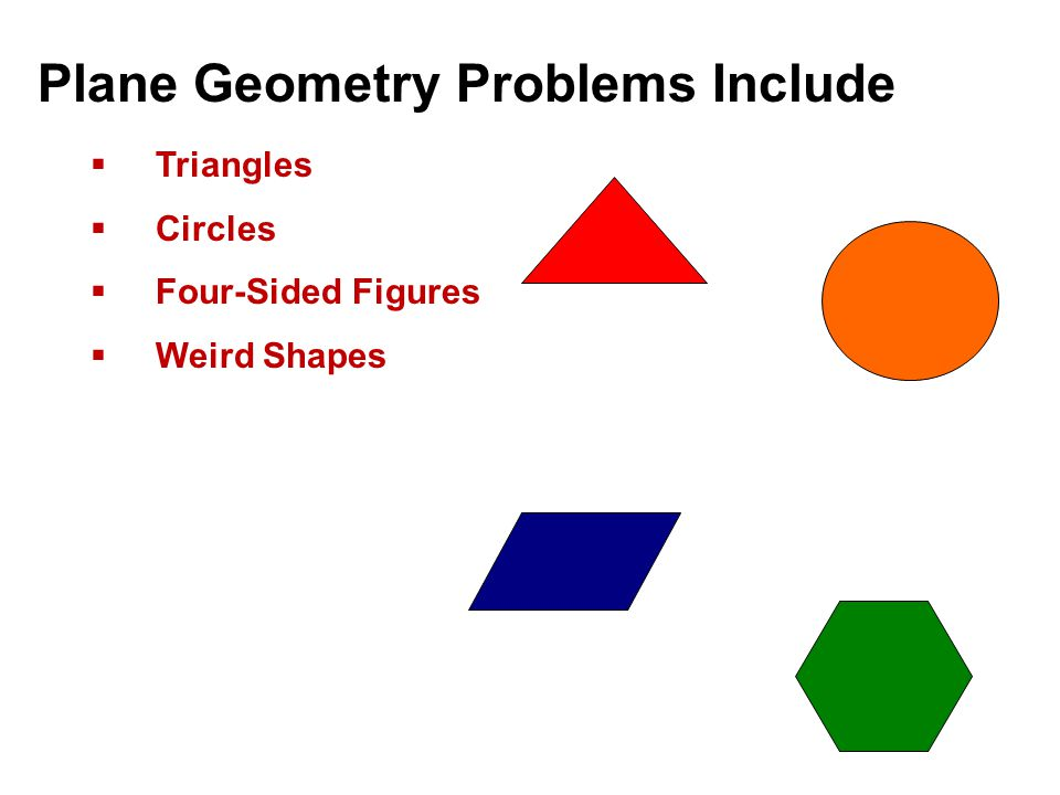 Plane Geometry Problems Include