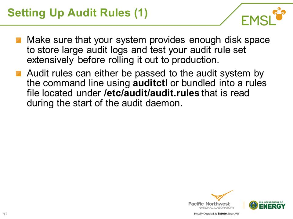 Setting Up Audit Rules (1)