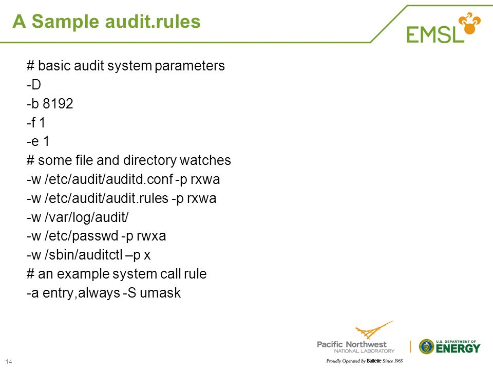 A Sample audit.rules