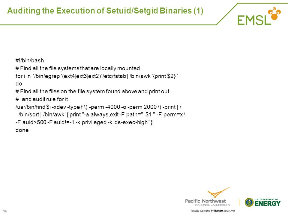 Auditing the Execution of Setuid/Setgid Binaries (1)