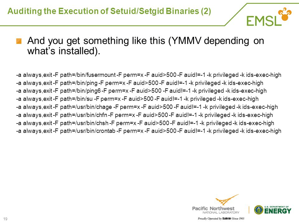 Auditing the Execution of Setuid/Setgid Binaries (2)