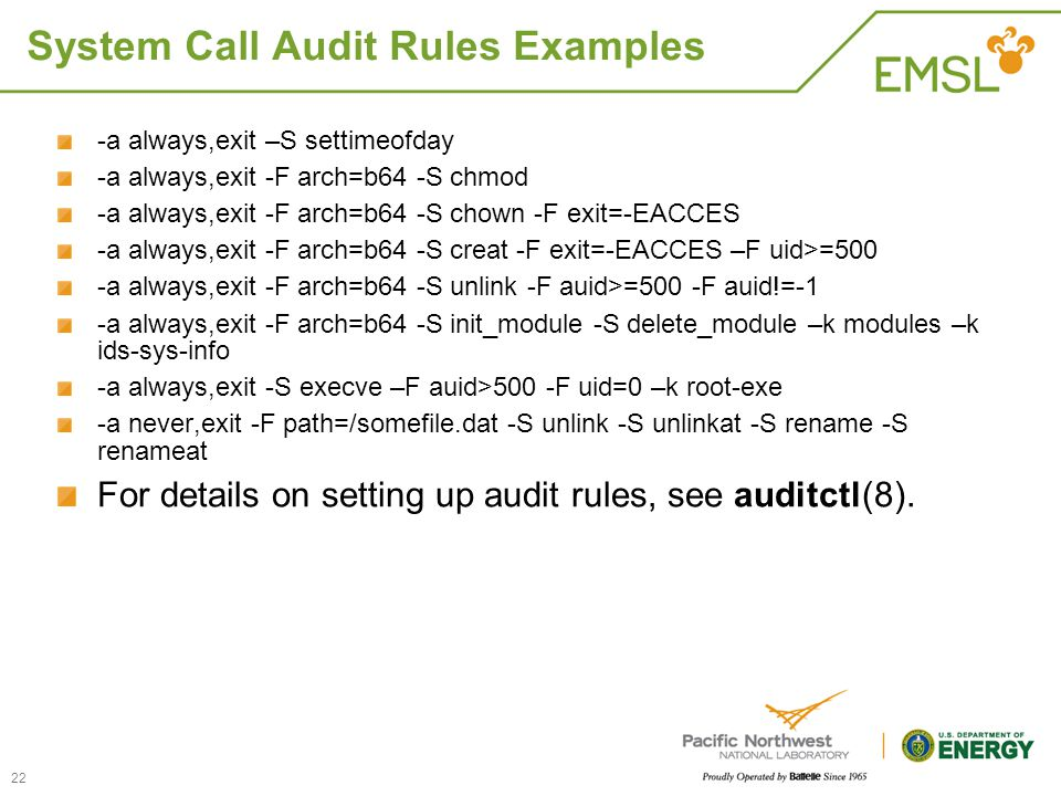 System Call Audit Rules Examples