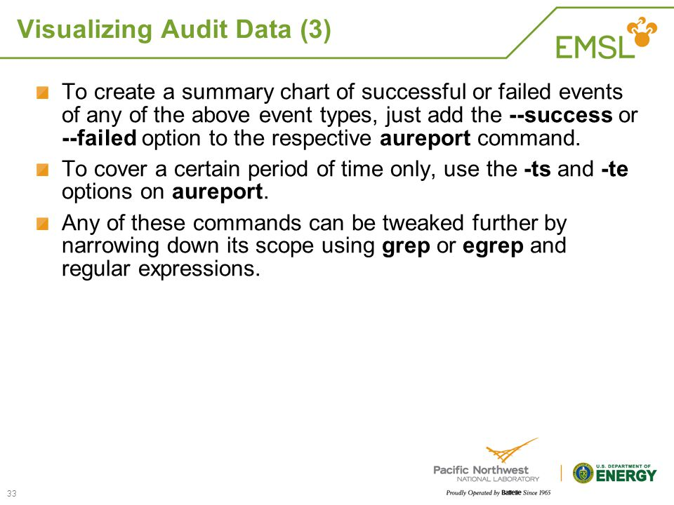 Visualizing Audit Data (3)