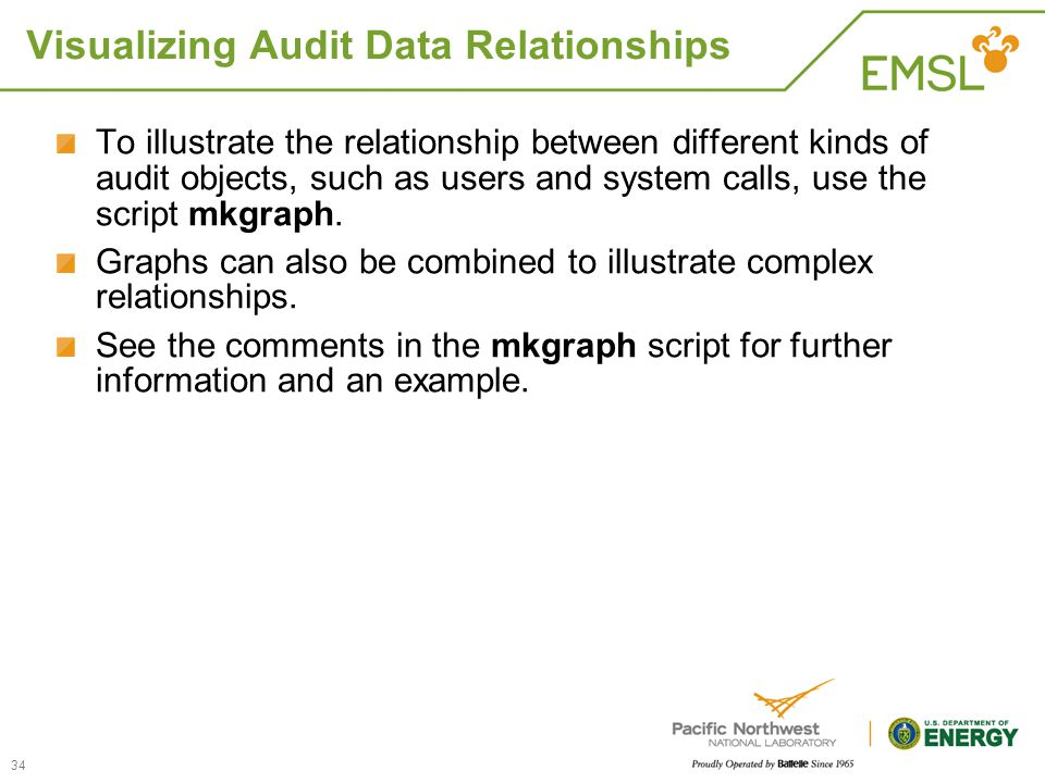 Visualizing Audit Data Relationships