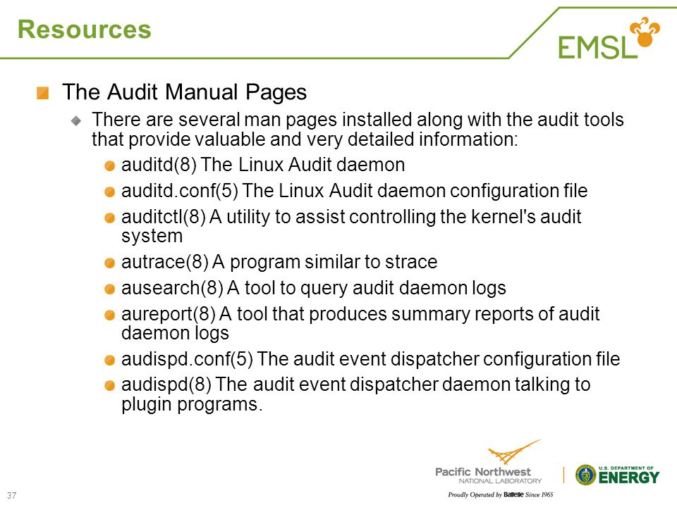 Resources The Audit Manual Pages